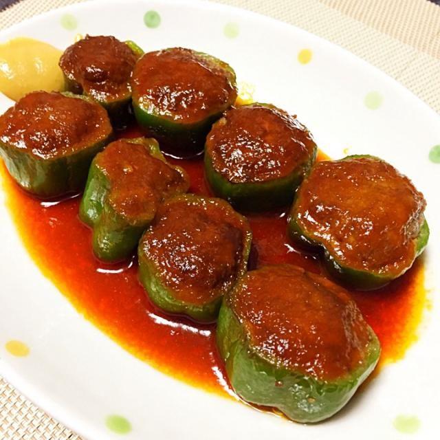 ピーマン肉詰めって無性に食べたくなる時があって クックパッドで見つけたレシピ。いつもと違う形で作ってみました〜。一口サイズで食べやすいです! - 119件のもぐもぐ - ピーマンの肉詰め by kanmasu
