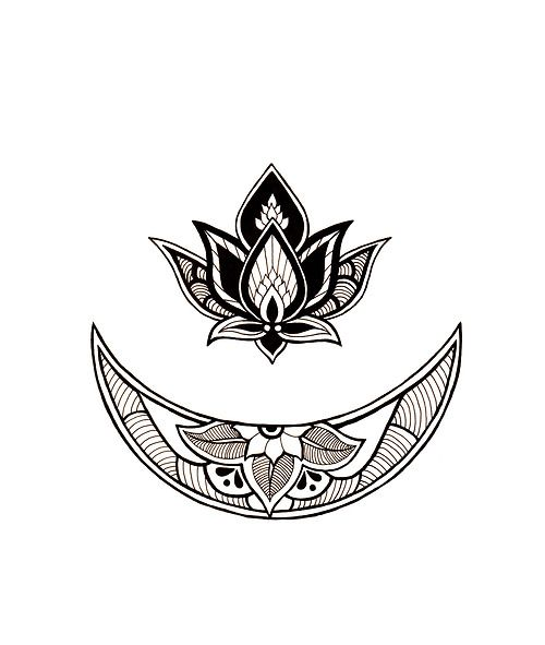 blackwork tattoo flower - Google Search