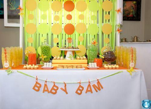 mesas de dulces para una fiesta baby shower