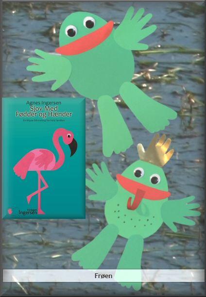 Frøerne er fra min og Sjov Med Hænder Og Fødder som jeg udgav i 2013 :) Frøerne er lige landet på bloggen, hvor du kan læse vejledningen, hente skabelonen og også se billederne fra bogen. Husk at give mig noget credit når du bruger mine ideer ♥ Her er frøerne: agnesingersen.dk/... Easy kids crafts - Kinderbastelideen