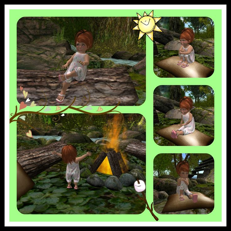There is nothing better then relaxing by the camp fire after a long day of chasing grandma's kitties, playing at the playground and swimming with friends. The crackling of the warm fire is a sound ...