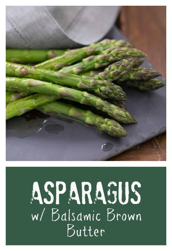 Roasted Asparagus with Balsamic Brown Butter | An easy, elegant asparagus preparation @lizzydo