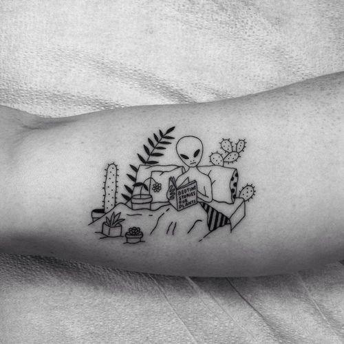 Imagem de tattoo and alien