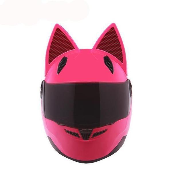Motorcycle Helmet Women Black Cat Full Face Fashion Helmets Funny