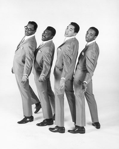 Smokey Robinson and the Miracles in 1967 (L-R: Bobby Rogers, Pete Moore, Smokey Robinson, Ronnie White). Smokey wrote so many hits for the label he earned the nickname 'King of Motown'