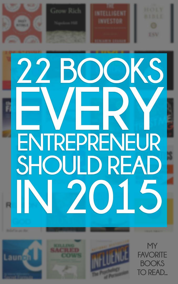 Check out the top 22 books that every entrepreneur should read this year. #books #entrepreneur