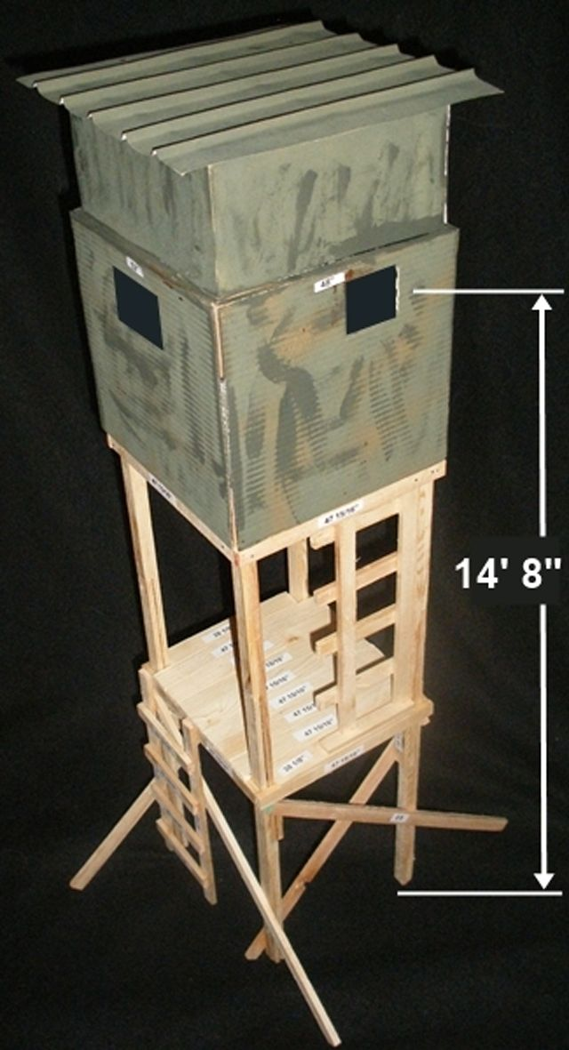 9 Free DIY Deer Stand Plans: FreeDeerStandPlans.com