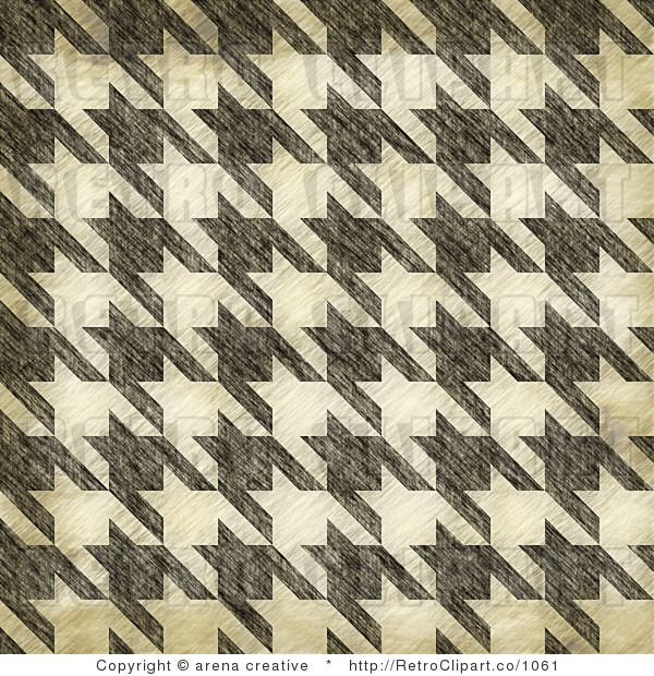 Royalty Free Retro Grungy Seamless Houndstooth Pattern