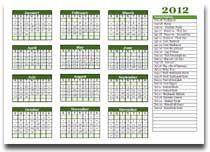 Hindu Festival Calendar 2012