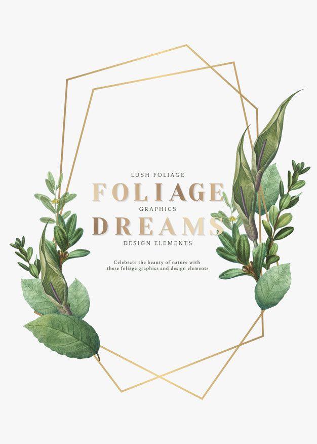 Nature Foliage Wallpaper Floral Border Design Material Design Background Dream Design