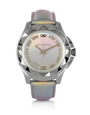 Karl Lagerfeld Karl 7 stainless steel holographic-leather watch ($195)