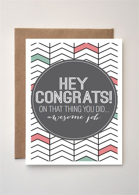 'Congrats on that thing you did' Pastels greeting card
