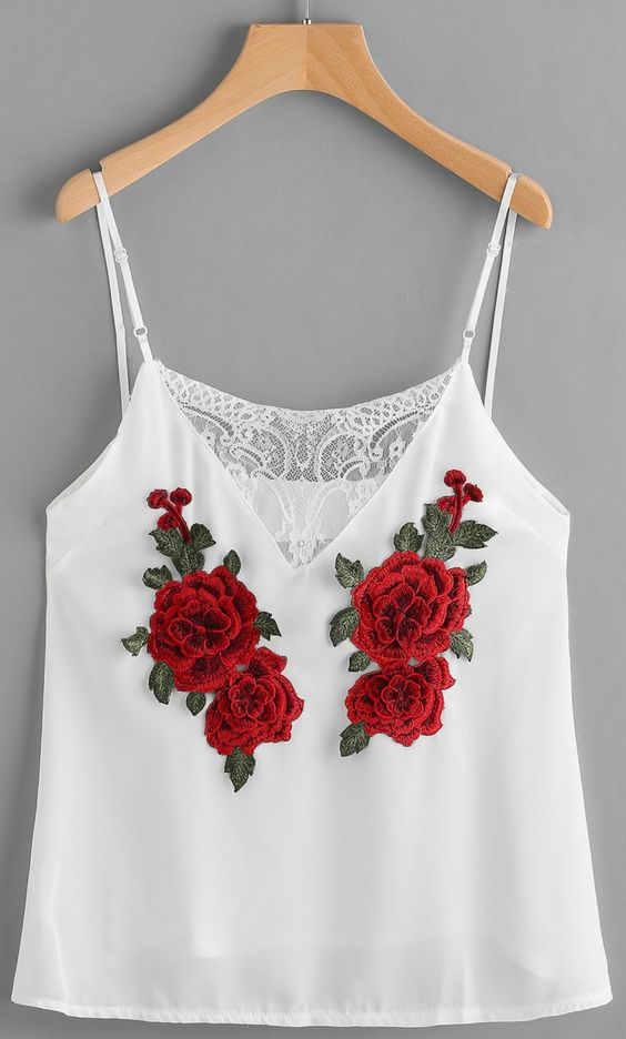 Rose embroidery trend