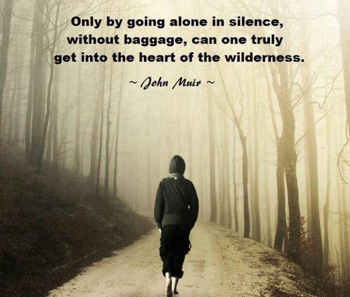 Alone doesn't mean living in fear.. It means being afraid of the unknown and still stepping forth to the grey areas...many wouldn't dare. Until you see the pierced sunlight rays beyond the trees.