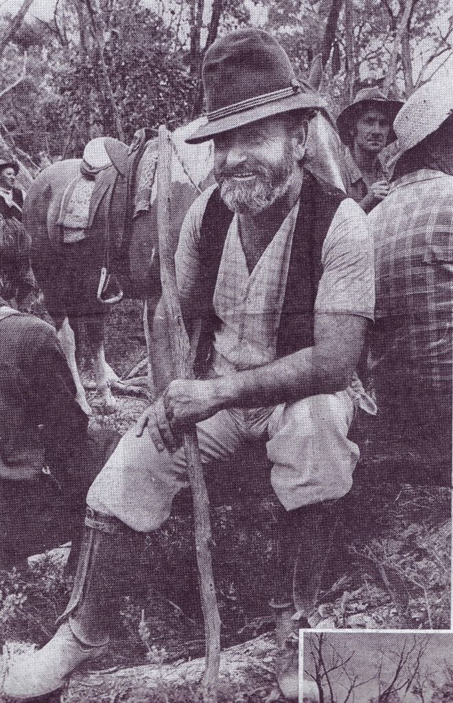 Ted Walsgott of Dimboola playing one of the leaders of the search party in the film, from The Sun newspaper, 10.2.1972.