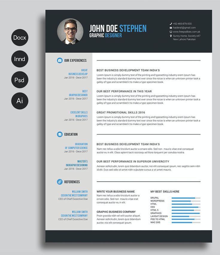 creative free resume templates awesome resume formats doc