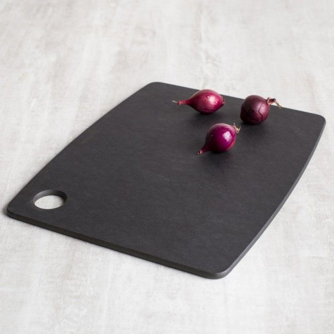Lightweight Epicurean Kitchen Cutting Boards are designed for everyday use and effortless handling. Their thin profile and built-in utility hole make them easy to store in a rack or display on the wall. Available in multiple sizes, these versatile cutting boards are perfect for the busy kitchen. Whether you use one at a time or several at once, cleanup is easy - just place in the dishwasher with the rest of the dishes. Quick. Convenient. Sanitary. No kitchen is complete without at least one!