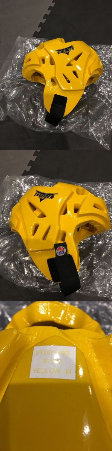 Other Combat Sport Protection 179783: Proforce Thunder Head Gear Yellow Sparring Gear Size M BUY IT NOW ONLY: $35.0