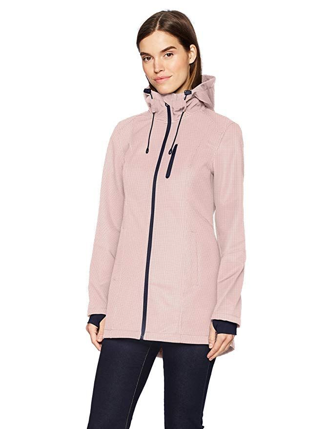 Nautica Womens Water Resistant Printed Jacket