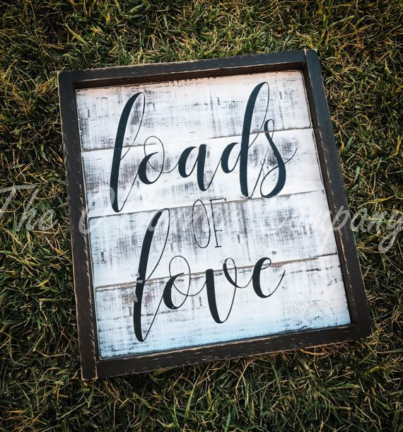 Loads of Love laundry room decor farmhouse and shiplap inspired wall decor