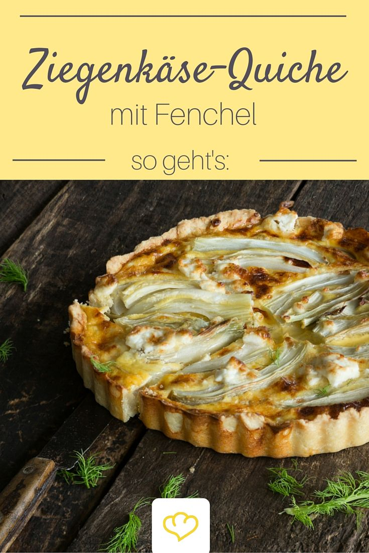 Fennel tart with goat cheese