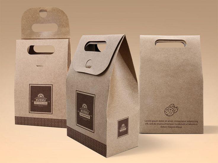 Cake & Cookie Kraft Paper Bag Mockup