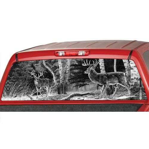 DEERs in a FORREST b/w  Window Graphic Tint Decal Sticker Truck Jeep SUV hunting…