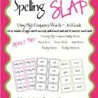 This is a spelling game based on the classic card game Slap Jack! This game uses 115 high frequency words. There are 115 core word cards and 32 car...