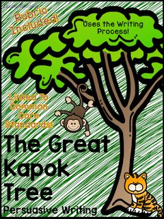 FREEBIE!!! The Great Kapok Tree Persuasive Writing Activity - great to pair with environmental awareness and a persuasive writing unit! Rubric included!
