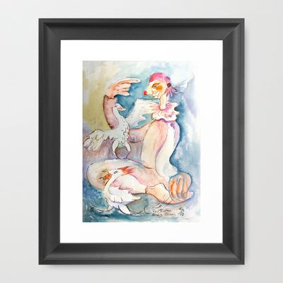 WC, cartoon illustration http://society6.com/product/timmy-loves-birds_framed-print#12=52&13=54
