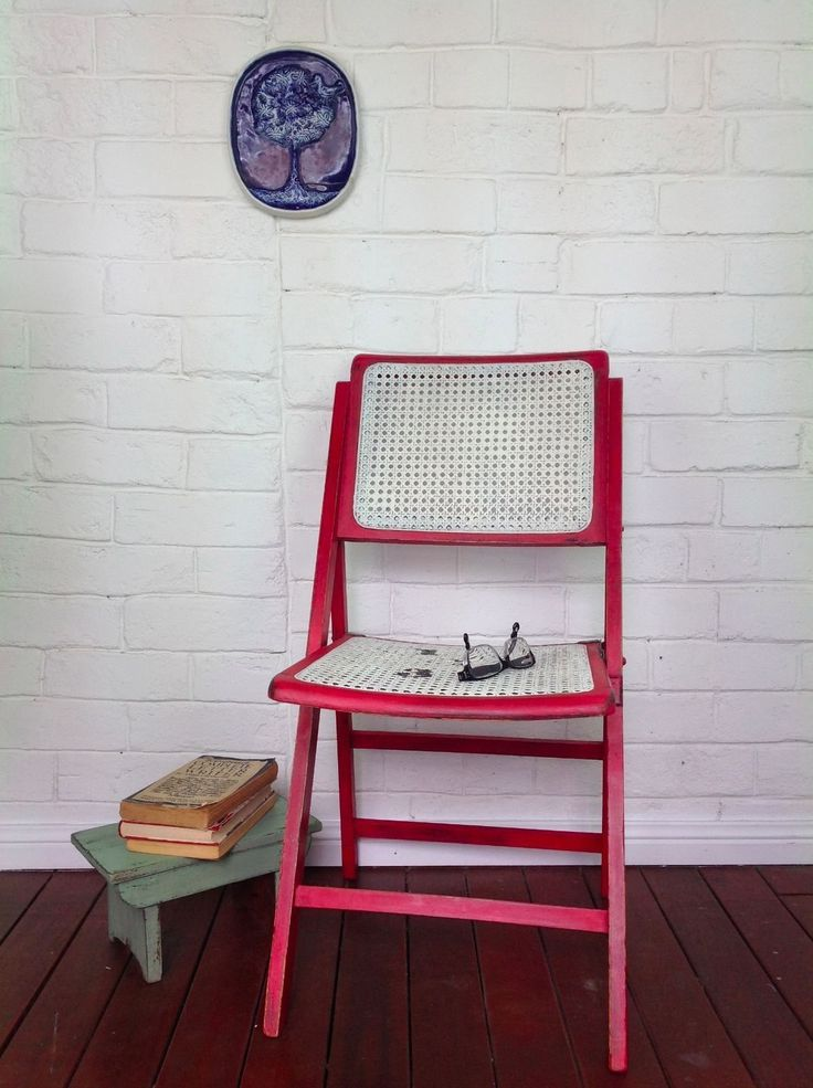 Vintage Folding Timber Chair Distressed AND Restored in NSW | eBay
