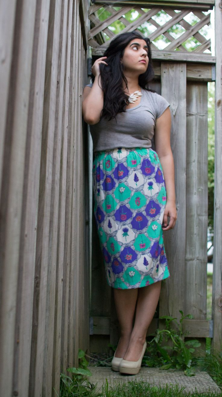 #Fashion Shoot  Vintage Skirt: Girl On The Wing Top: Sirens Shoes: Call it Spring & Necklace: Forever 21
