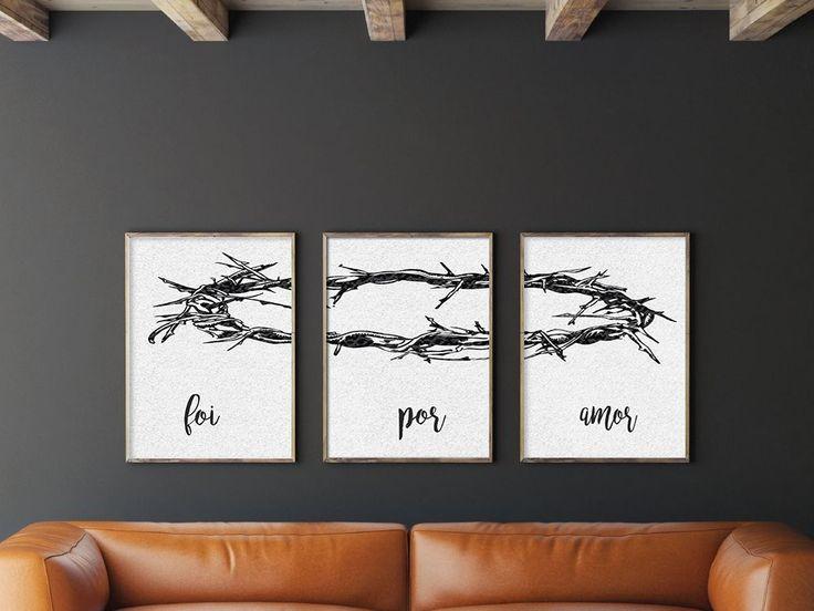 """Pôster Foi Por Amor  Impressão em papel couche.  Só vendemos os 3 posters juntos: """"foi"""" + """"por"""" + """"amor""""  Personalizamos do tamanho que o cliente preferir"""