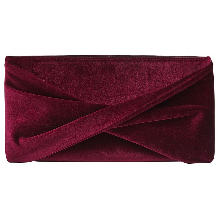 Buy Reiss Beau Velvet Evening Clutch Bag, Berry from our Handbags range at John Lewis. Free Delivery on orders over £50.