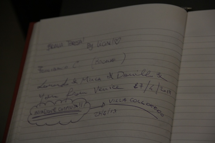 Anche gli invasori firmano il libro degli ospiti... #invasionidigitali