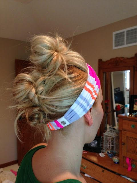 three pony buns. easy updo. LOCK LOVE WEDNESDAY