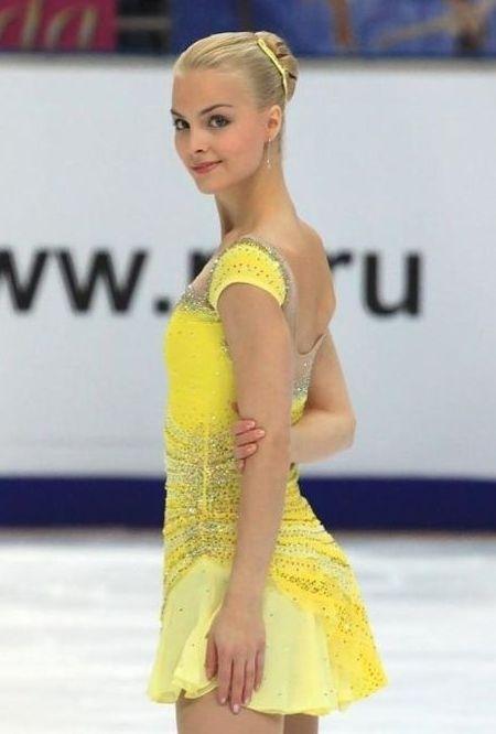 Figure skating dresses yellow