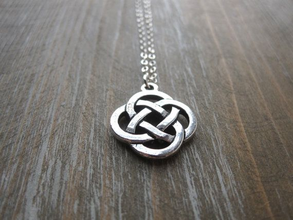 Silver Celtic Knot Necklace, Celtic Necklace, Celtic Jewelry, by SongYeeDesigns, $26.00