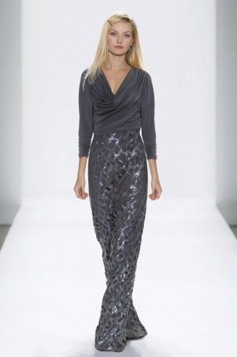 #tadashishoji #evening #dress #long #gray #sequin