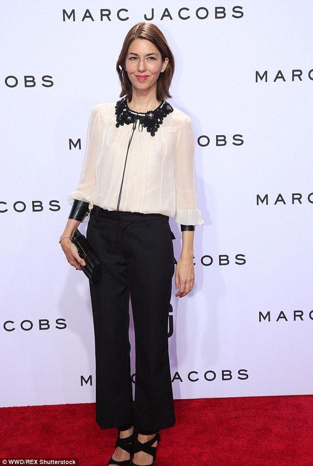Monochrome: Sofia Coppola was also in attendance...