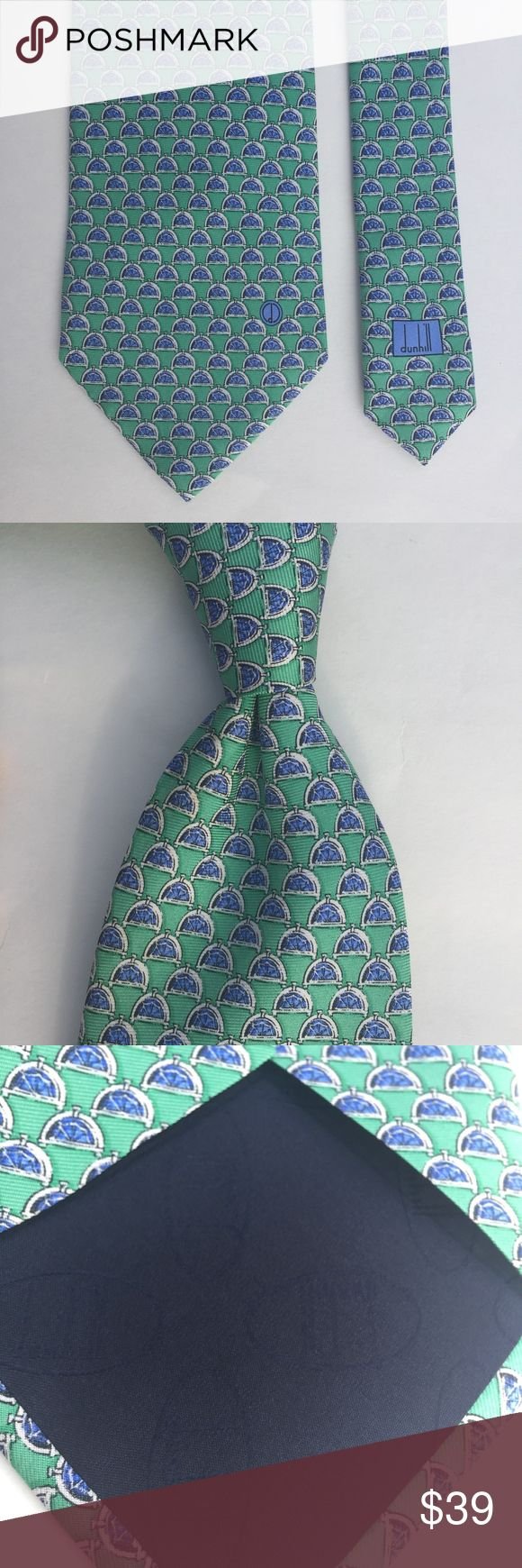 Dunhill 100% Silk Tie by Alfred Dunhill Classic and sophisticated Alfred Dunhill 100% silk neck tie made in Italy. This tie is Preowned and in excellent condition! Dunhill Accessories Ties