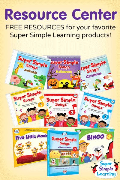 Free BINGO Picture Book resources for kids from Super Simple Learning. #EFL #preschool