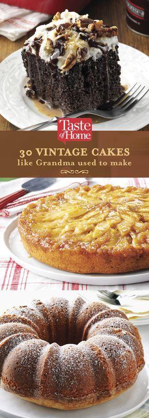 30 Vintage Cakes Like Grandma Used To Make (from Taste of Home)