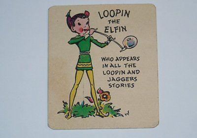 Card Pickers 1920's Loopin The Elfin Loopin & Jaggers Blue Ribbon Card