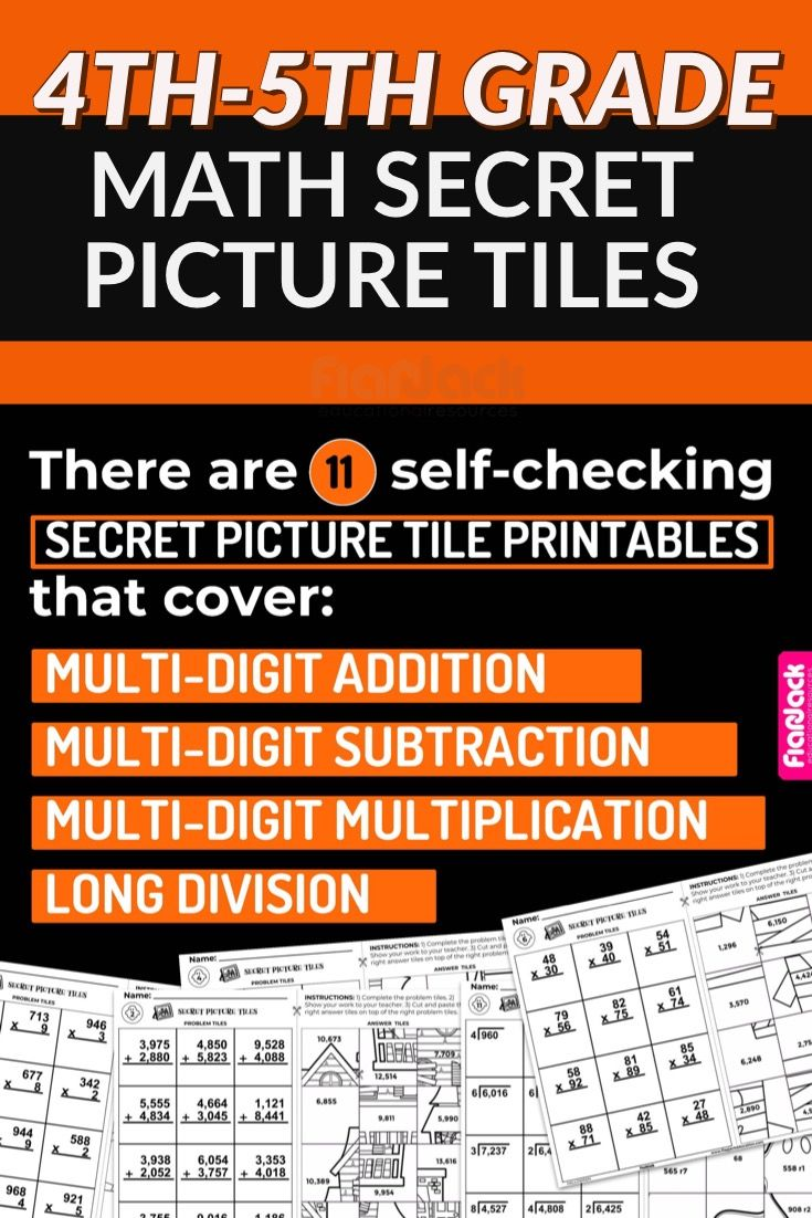 Halloween Math 4th 5th Secret Picture Tile Printables Math Halloween Math Math Operations [ 1102 x 735 Pixel ]