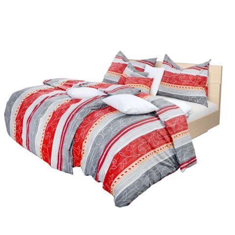 Holey Quilt® Bavlnená obliečka Maia grey 140x200,70x90