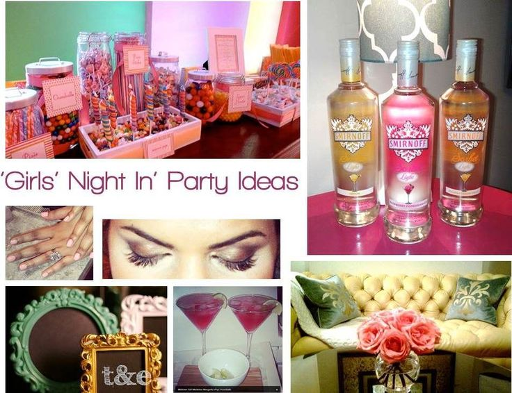 10 Ideas For A Fabulush Girls' Night In Party (without the alcohol for my high school friends) :)