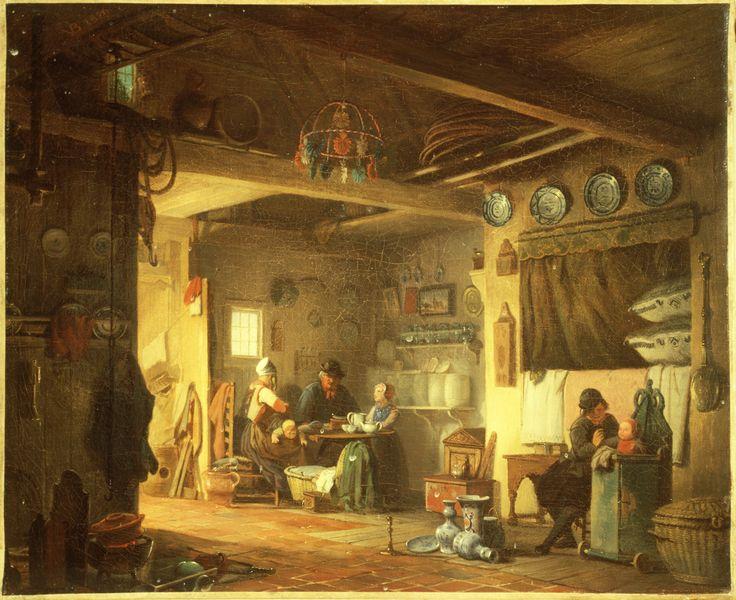 Marker interieur 1856 maker: Bing, Valentijn (1812-1895) Dit schilderij is een vroege weergave van een Marker interieur. Bing heeft alle elementen ervan weergegeven. Toch komt dit schilderij niet overeen met de werkelijkheid. Het kostbare porselein stond bijvoorbeeld nooit zo op de grond. #NoordHolland #Marken
