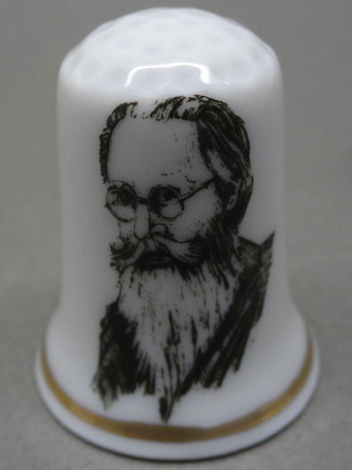 Valle-Inclan. 1866-1936. E. Fernández. Escritores españoles. Thimble-Dedal-Fingerhut.