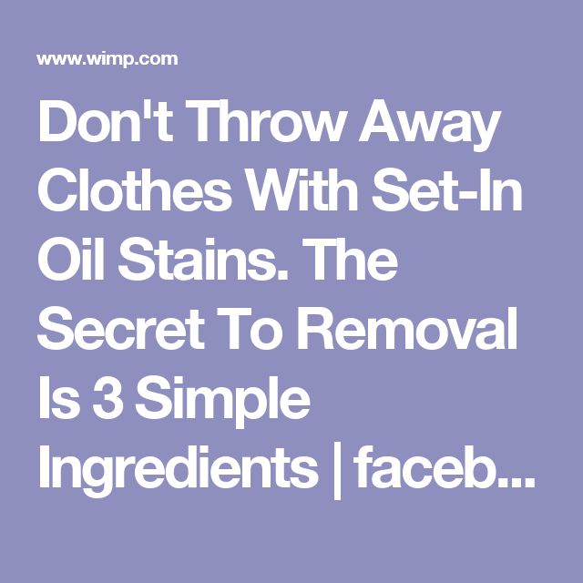 how to clean clothes with oil stains